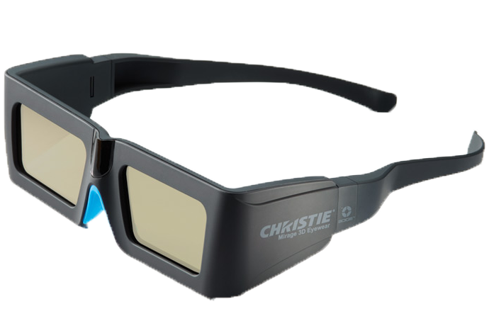 3D active glasses - single pair