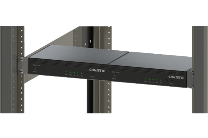 Terra TX and RX rack mount shelf | Christie - Audio Visual Solutions