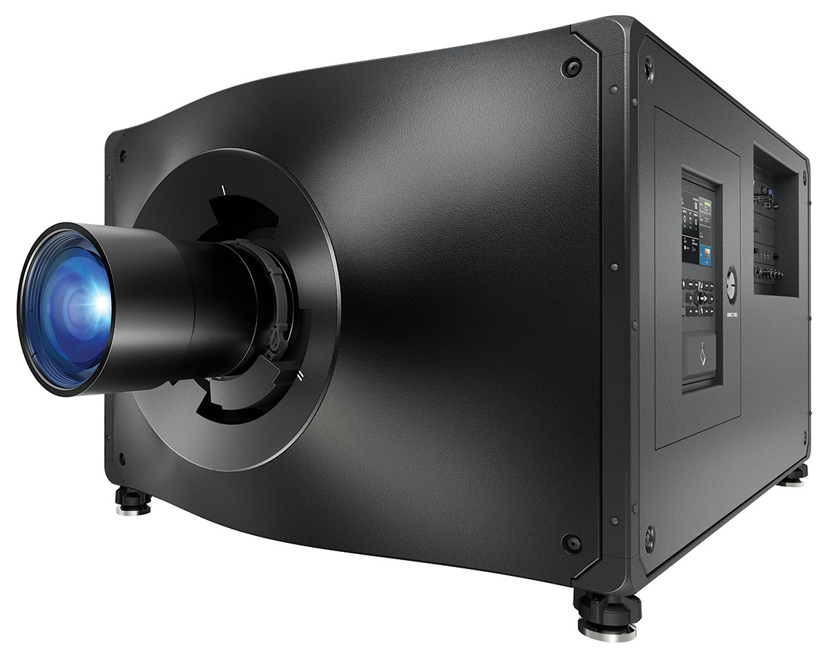 Laser projector | Christie D4K40-RGB | This all-in-one, 45,000 lumen RGB pure laser projector raises the bar for design, image quality, built-in processing, and connectivity.