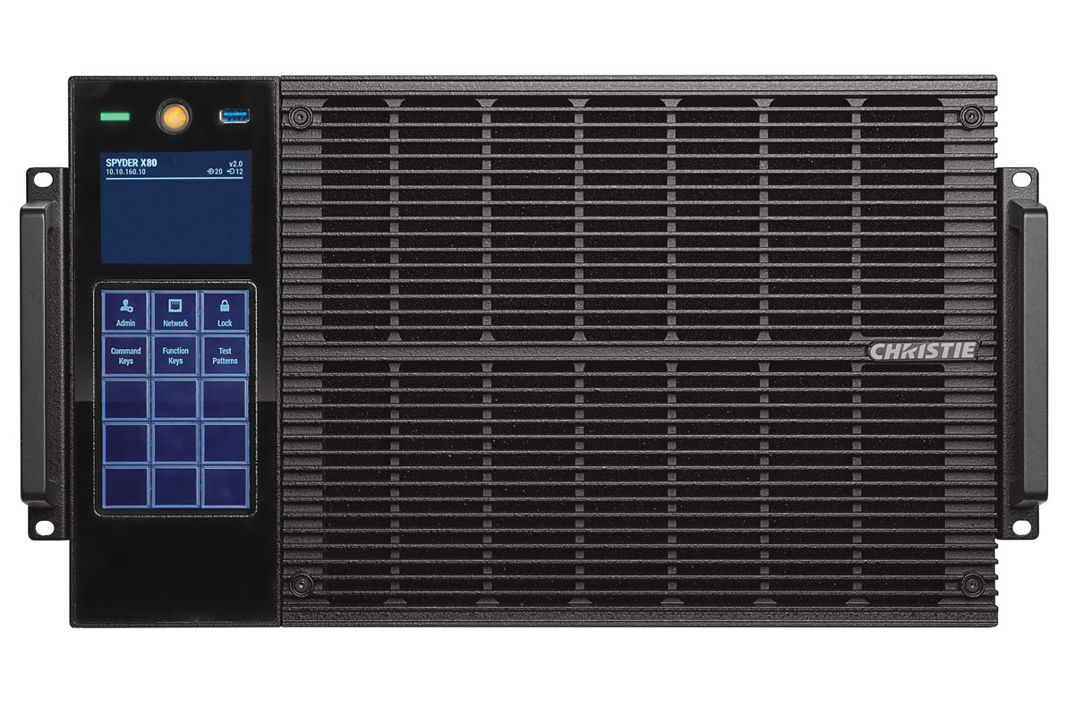 Christie Spyder X80 multi-screen windowing processor | 900-100276-XX