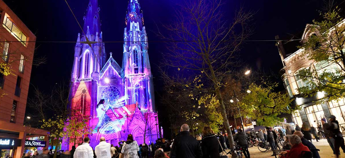 Neo-Gothic Cathedral Bathes in the GLOW
