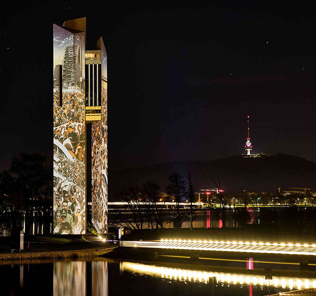 Christie lights up Canberra Carillon