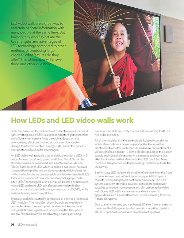 LED video walls whitepaper page 2