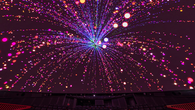 Projetores de laser puro Christie 4K RGB para cúpulas e planetários